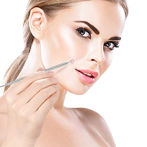 6PCs : BESTOPE Blackhead Remover 6PCs Blackhead Tweezer Pimple Comedone Extractor Tool - Treatment for Blemish Whitehead Popping Zit Removing with Metal Case (6PCs)
