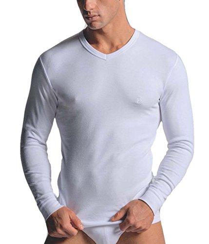 Navigare maglia intima uomo scollo a v manica lunga con polsino underwear in cotone interlock garzato art. 114 - colore nero- disponibile nelle taglie dalla 3 alla 7