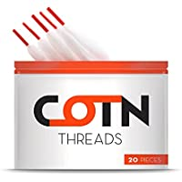Algodón Vape Orgánico COTN THREADS para resistencias de 3 mm – 20 piezas de algodón ecológico para cigarrillos electrónicos ¡Lo último en accesorios para el vapeo!