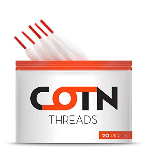 COTN Threads 20er Pack Watte für Selbstwickler Verdampfer -