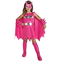 Official Pink Batgirl Kids Fancy Dress Costume