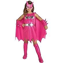 Rubie's Official Pink Batgirl Girl's Fancy Dress Superhero Batman Kids Movie Childs Costume