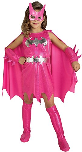 Rubie 's Offizielles/Pink/Batgirl Girl 's Fancy Kleid Superheld Batman Kinder Film Kinder Kostüm (Gotham Girls Batgirl Kostüm)