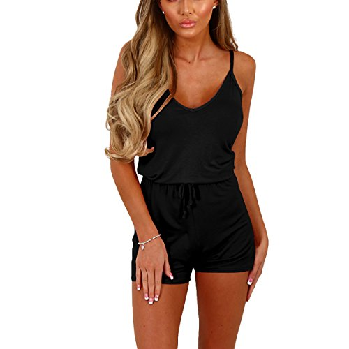 Butterme Womens Casual Loose Strappy Ärmellose Spielanzug Short Outfit (Lady Outfit)