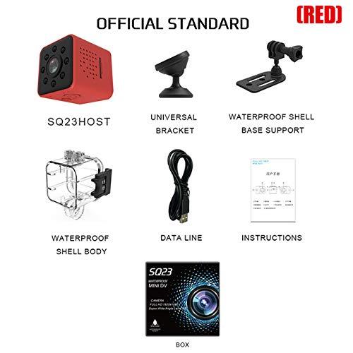DishyKooker Mini-Kamera WiFi-Kamera Full HD 1080P Nachtsicht wasserdichte Hülle CMOS Sensor Recorder Camcorder rot