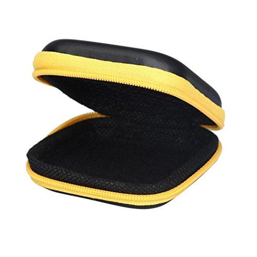 baomabao Reißverschluss Aufbewahrungstasche, der Fall für Hartschale Keep Kopfhörer SD Karte Bereich YE -