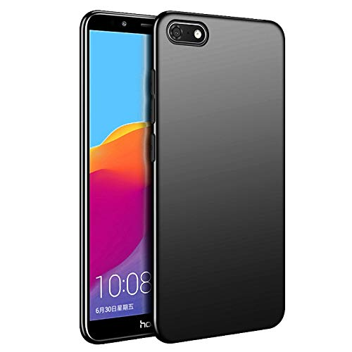 Olliwon Huawei Y5 2018 Hülle, Dünn Leichte Schutzhülle Schwarz Silikon TPU Bumper Case Cover für Huawei Y7 2018