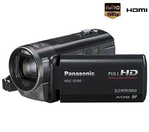 Panasonic HDC-SD90 Caméscope numérique Port SD/SDHC/SDXC Full HD 5 Mpix Zoom optique 26 x Noir