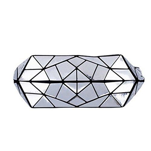 Damen Geometrische Eimer Tasche Neue Umhängetasche Handtasche Blue