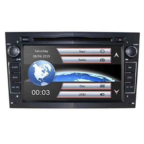 hizpo 7 pollici Car Audio Stereo Doppio Din in Dash per Opel Corsa Vectra Supporto Astra Controllo Volante GPS Navigazione DVD Lettore Bluetooth Autoradio SD USB Free 8G