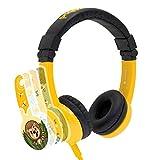 Kinder-Kopfhörer von Onanoff - Lautstärkebegrenzung - verstellbares Gehäuse - integrierter Kopfhörer-Splitter - sehr langlebig - hypoallergene Polsterung - für Computer, Tablet, Smartphone und andere Geräte - Gelb