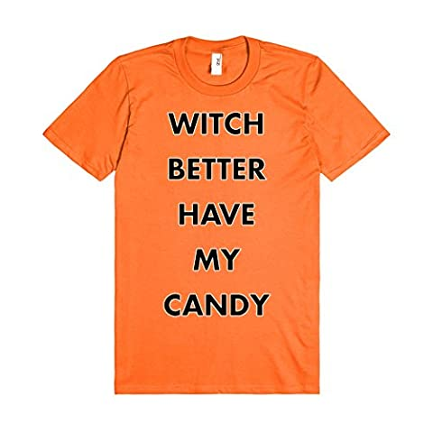 Skreened Men's Witch Better Have My Candy T-Shirt X-Large Mandarin Orange