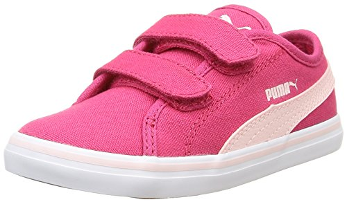 Puma Elsu V2 Cv V Inf, Sneakers Basses mixte enfant Pink (rose red-pink dogwood 03)