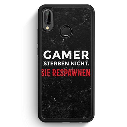 Gamer Sterben Nicht - Sie Respawnen - Silikon Hülle für Huawei P20 Lite - Motiv Design Spruch Jungs Männer Cool Lustig Witzig - Handyhülle Schutzhüll Cool Silikon