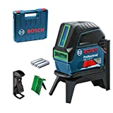 Bosch Professional GCL 2-15 G - Nivel láser (alcance 15 m, plomada, láser verde, soporte giratorio RM1, en maletín)