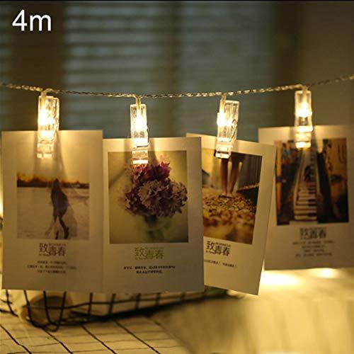 Ouyingmatealliance LED Light LED-Licht 40 LEDs 3 x AA Batterien Box Ketten Lampe dekoratives Licht für Home hängen Bilder, DIY Party, Hochzeit, Weihnachtsdekoration (Farbe : Color2)
