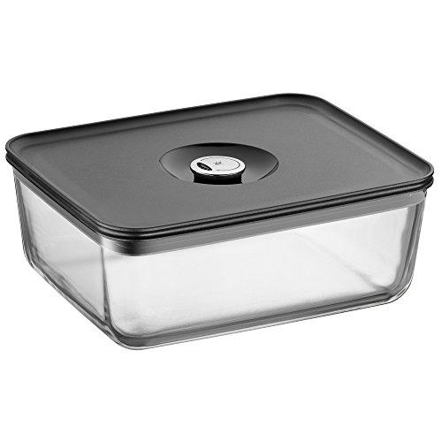 WMF Depot Fresh Vorratsdose 26 x 21 cm rechteckig, Glas, Vorratsglas, luftdichter Aroma-Deckel, Frische-Ventil, Frischhaltedose zum Vorbereiten, Aufbewahren und Servieren