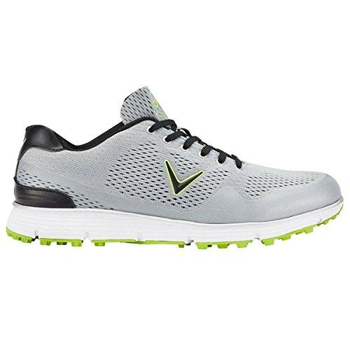 Callaway Chev Vent Chaussures de Golf, Homme, Gris (Grey/Lime), 44EU