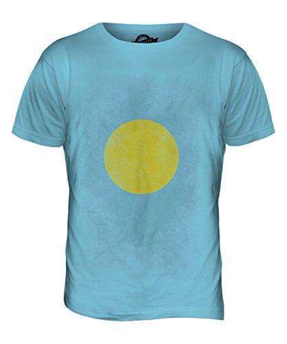 CandyMix Palau Verblichen Flagge Herren T Shirt Himmelblau
