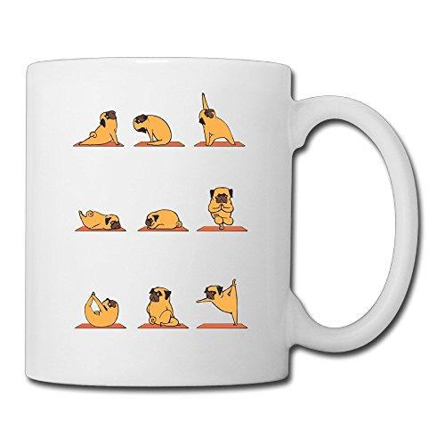 Funny Dog Pug Doing Yoga Hispter Coffee Mugs Cool Mugs