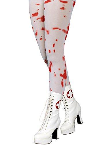 Blutiger Arzt Kostüm - Zombie Kostüm Krankenschwester Chirurg Arzt Blutig Säge Beil OP-Set (Blutige Strumpfhose S-M)