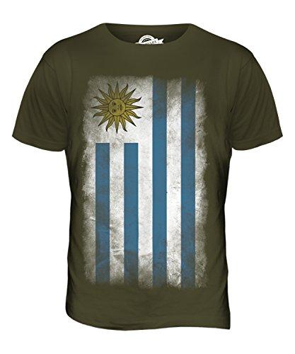 CandyMix Uruguay Verblichen Flagge Herren T Shirt Khaki Grün