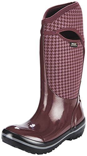 Bogs Plimsoll Houndstooth Tall, Bottes pour Femme Lilas