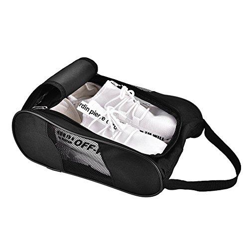 Acogedor Schuhtasche,Nylon Schmutzabweisender Schuhsack Schuhbeutel Tragbare Golfschuhtasche für Reise,Golf-Schuh-Organizer Taschen/Boxen - Atmungsaktives NylonmitReißverschluss,Sportschuhtaschen(1) -