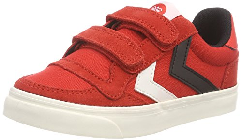Hummel Unisex-Kinder Stadil Canvas Duo Low JR Sneaker, Rot (Fiery Red), 31 EU
