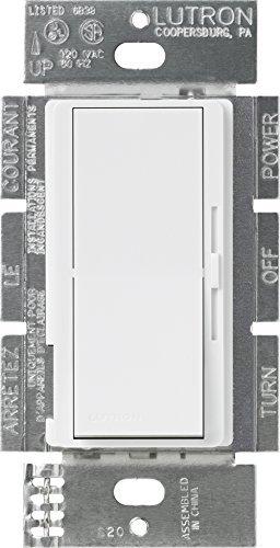 Lutron DVSTV-WH Diva 8 Amp 3-Wege/einpolig 0-10 V Dimmer, keine Neutralbildung erforderlich, Weiß von Lutron - Lutron Dimmer