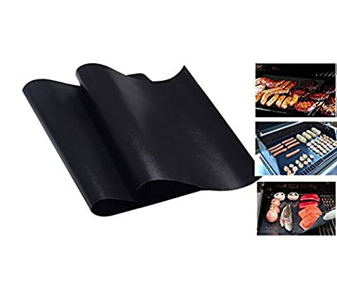 WDYJMALL BBQ Grill Mats Reusable Non-stick Set of 2 by WDYJMALL