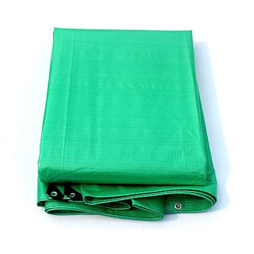 Plane Heavy Duty Green Rainproof Tarp, Verdicken Polyethylen wasserdicht Sonnenschutz, LKW, Auto, Zelt, Boot oder Pool Abdeckung (größe : 6 m × 8 m)