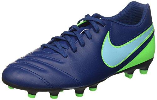 Nike Tiempo Rio Iii Fg, Scarpe da Calcio Uomo, Blu (Coastal Blue/Polarized Blue/Rage Green), 43 EU