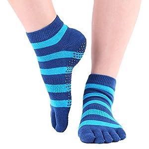 ZDLF 1 para Frauen Sport Yoga Socken Anti Slip Striped Lady Gym Fitness Pilates Socke Mit Silikon Gel Professionelle Socke Dance Protector