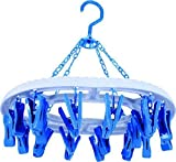 #1: Dice Round Shape Cloth Drying Hanger 24 Clips|Specially for Drying Baby Accessories (Assorted Color)