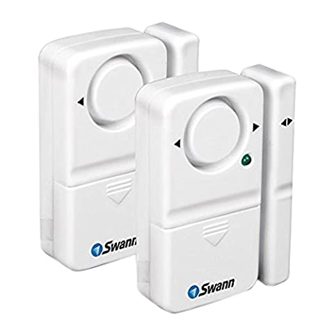 Swann 110dB Magnetic Window and Door Alarm Siren (Pack of 2)