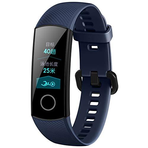 BaZhaHei wasserdichte Smart Mode Fitness Tracker Fitness Armband Uhren Armband Neues Smart-Armband Touchscreen-Herzfrequenz für IOS Android Blutdruck für Kinder, Frauen, Männer (Blau)