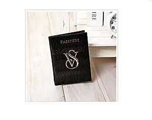 Porta passaporto victoria secret pelle nero for Porta passaporto
