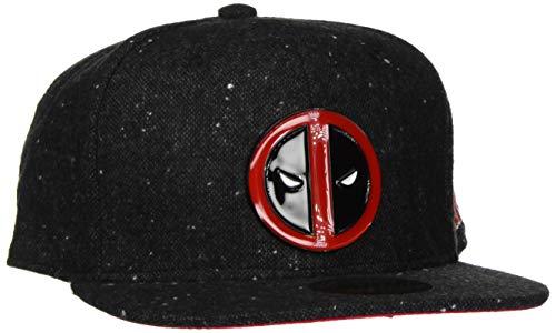 Deadpool Metal Badge Logo Snapback-Cap dunkelgrau/rot