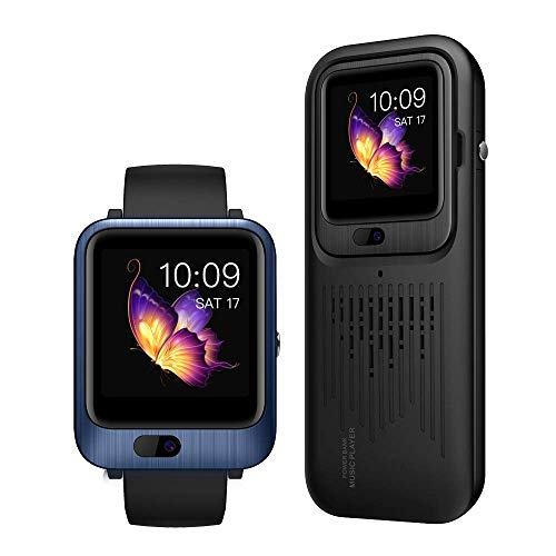 Reloj Inteligente LEMFO LEM11 4G con 3 GB de RAM y 32 GB de ROM, videollamada y Banco de Potencia de 1200 mAh, Altavoz estéreo portátil inalámbrico Bluetooth y Correas reemplazables (Azul)