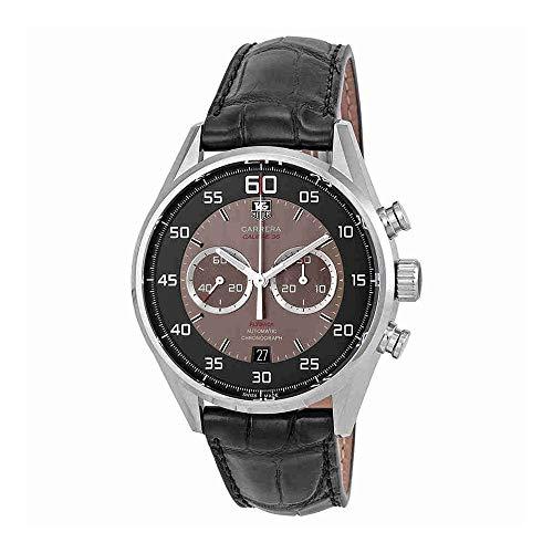 Tag Heuer Carrera calibre 36 CAR2B10, fc6235 reloj de los hombres de color negro de piel de cocodrilo de cuero de la venda