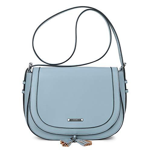 ECOSUSI Damen Umhängetasche Crossbody Schultertasche mit Verstellbarem Schultergurt Blau -
