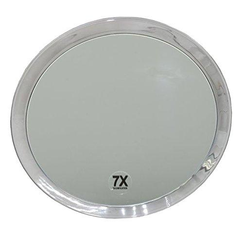 Runder 7-fach Kosmetik-Spiegel Ø 23cm, Kosmetex mit verschiedenen Vergrößerung und Saugnäpfen,...