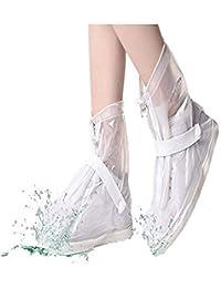 Hehong Unisex Cubrecalzado Botas de lluvia impermeables Colores antideslizantes agua Proteger zapatos para niños adultos(1 par)