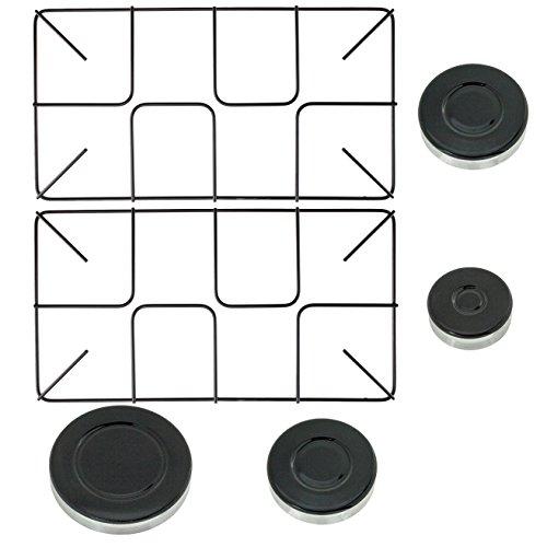 spares2go-flush-pan-support-burner-kit-for-stoves-oven-cooker-gas-hob-2-small-grids-4-burners