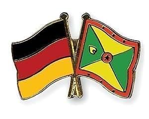 Allemagne & Grenade amitié drapeaux Plaqué Or-Gifts Épinglette émaillée