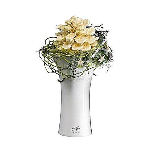 Porzellan X-Vase 17 weiss