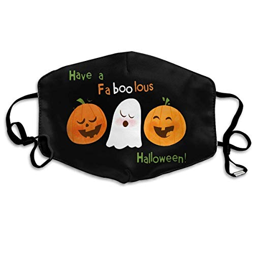 itruty Have A Faboolous Halloween Unisex Anti-Dust Mouth Mask Face Mask,Anti Bacterial Washable,Reusable Maske Warm Windproof Mask Fashion Outdoor Mund Maske with Design