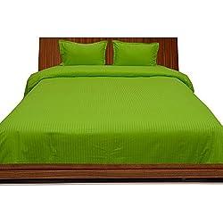 Algodón egipcio de 300hilos juego de sábanas con funda de almohada Extra Euro IKEA doble loro verde rayas 100% algodón 300TC