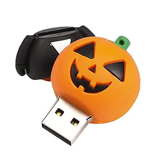Tonsee 4GB/8GB/16GB/32GB/64 GB USB 2.0 USB Flash Mode Niedlich Halloween Smiley Form Flash Laufwerk Speicher Daumen Stick schieben Home Decor (Schreiben Klasse Halloween 2.)
